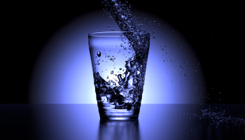 water into cup